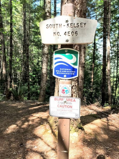 South Kelsey No 4E06 trail marker. Photo by Rob DiPerna.