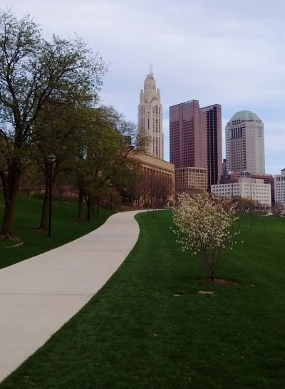 Greenway Trail and the Scioto Mile in Downtown Columbus. Photo by Vejlenser.