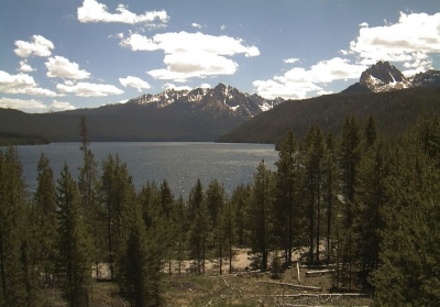 View from Redfish Lake Visitor Center. Photo by USFS.