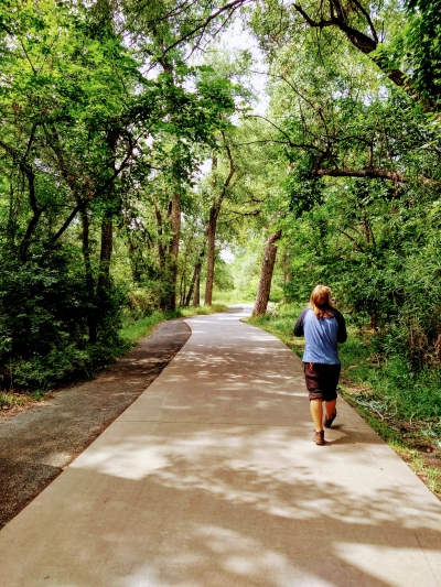 You would never know you are in a city when walking along the Poudre Trail. Photo by Hailey Groo.