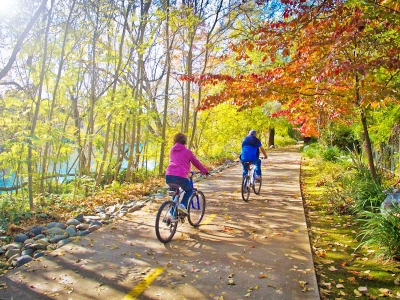 A beautiful fall day for a ride along the river. Photo by Chris Flentye.