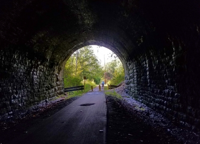 Light at the End of the Tunnel. Photo by Mary Shaw.