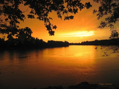 Rainy White River Sunset at the Jacksonport State Park near Tunstall Riverwalk Trail. Photo by Delana Epperson.