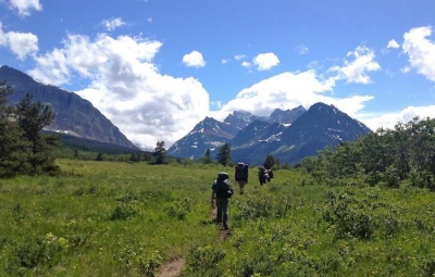 The trail meanders through the backcountry of Glacier National Park. Photo by NPS.