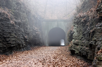 Foggy Tunnel. Photo by Jonathan Voelz.