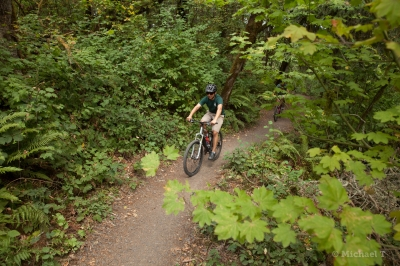 Sections of the trail are open to mountain bikes.