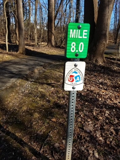 New NRT sign placed on the Rock Creek Trail. Photo by Bob Ratcliffe.