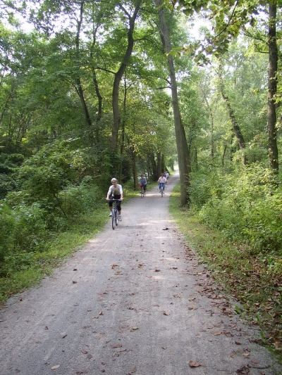 Bikes on towpath. Photo by Stark County Park District.