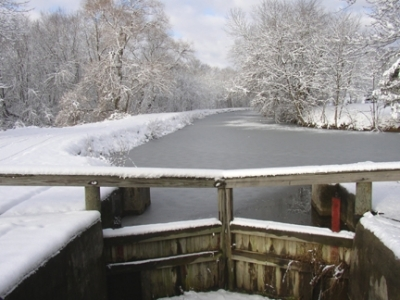 Frozen Lock 4. Photo by Stark County Park District.