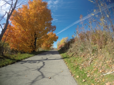 Colorful Autumn Day on the Trail. Photo by Jim Allan.