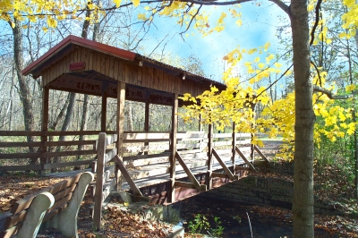 Covered bridge on the Lower Trail.