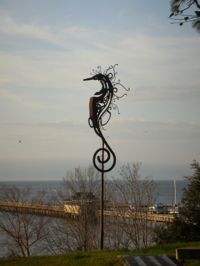 Seahorse metal sculpture. Photo by Sherry Sullivan.