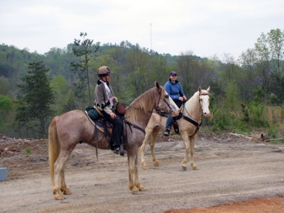Equestrians on trail. Photo by John W. Sellers.