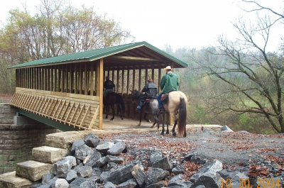 Covered bridge on the Richard Martin National Recreation Trail in Elkmont. Photo by Beth McCreless.