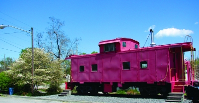 Elkmont Caboose. Photo by Rob Grant.