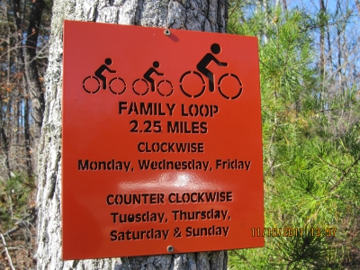 New laser-cut trail signage. Photo by Rob Grant.