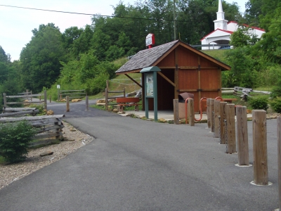 Train station rest area. Photo by Dan Talbott.