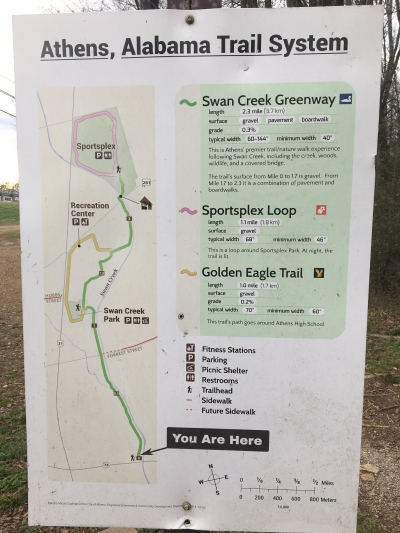 Trail system map. Photo by Donna Kridelbaugh.