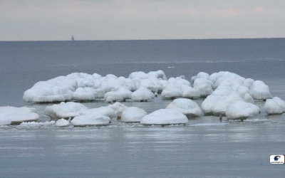 Ice on Lake Michigan. Photo by Eye on Michigan.