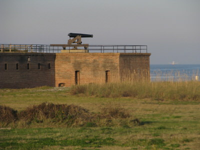A view of Fort Gaines.