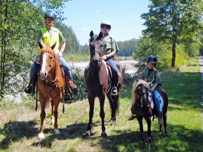 Equestrian safety patrol.