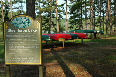 Canoeing and Fishing at Blue Heron Lake