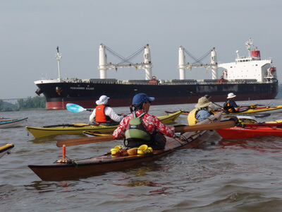Paddlers must be aware of commercial ships
