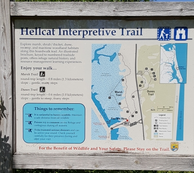 The main trail sign. Photo by Andy Griffith.