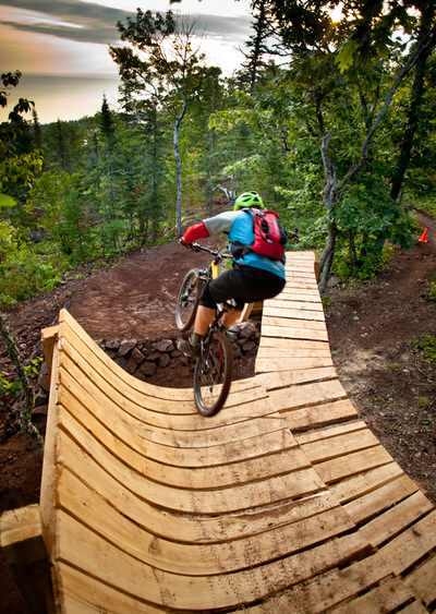 Copper Harbor also offers advanced downhill trails