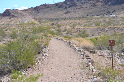 Start of trail at trailhead near Alan Bible