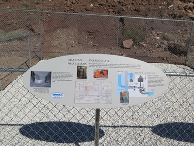 One of 22 information panels located on the trail