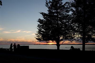 Enjoy a sunset from the Sackets Harbor History Trail.