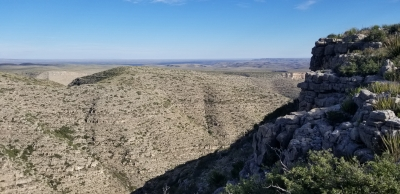 The Fawn Valley Overlook within Carlsbad Caverns National Park gives sweeping views to the north. Photo by Todd Shelley.
