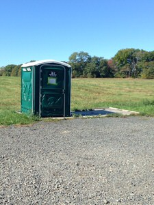 An accessible restroom is provided at the trail head.
