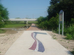 Mosaic at the Morningstar Memorial on Salado Creek Greenway North