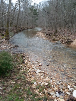 Ozark Trail..Middle Fork Section at Little Creek. Photo by Terry Hawn.