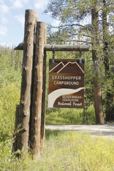 Signage at Grasshopper Campground. Photo by USFS-Beaverhead NF.