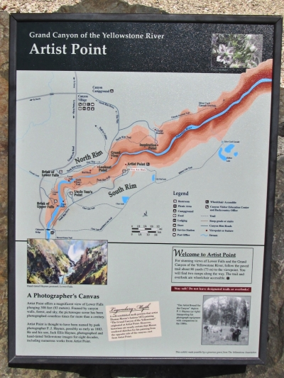 You are here - Artist's Point, on the South Rim Trail, Yellowstone National park. Photo by Valerie A. Russo.