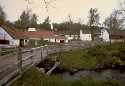 Hopewell Furnace, an iron plantation, operated from 1771-1883. Photo by NPS.