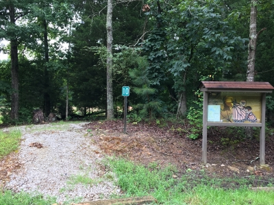 Trailhead kiosk and entrance to Chickasaw Nature Trail. Photo by Donna Kridelbaugh.
