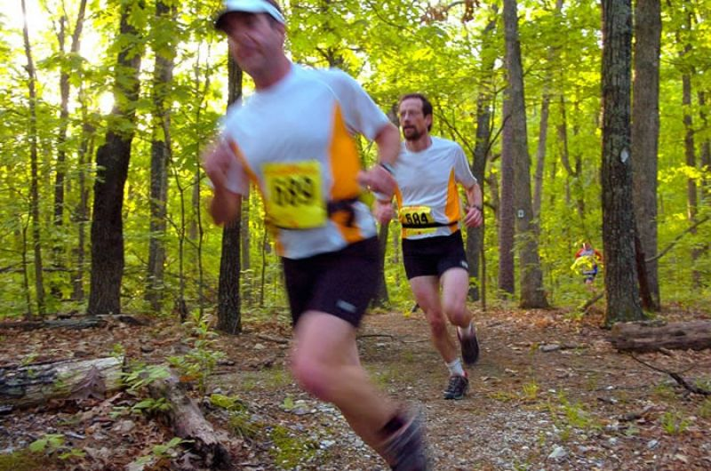 photo: Runners hit the Berryman Trail every spring for the marathon and 50-mile run sponsored by the St. Louis Ultrarunners Group.