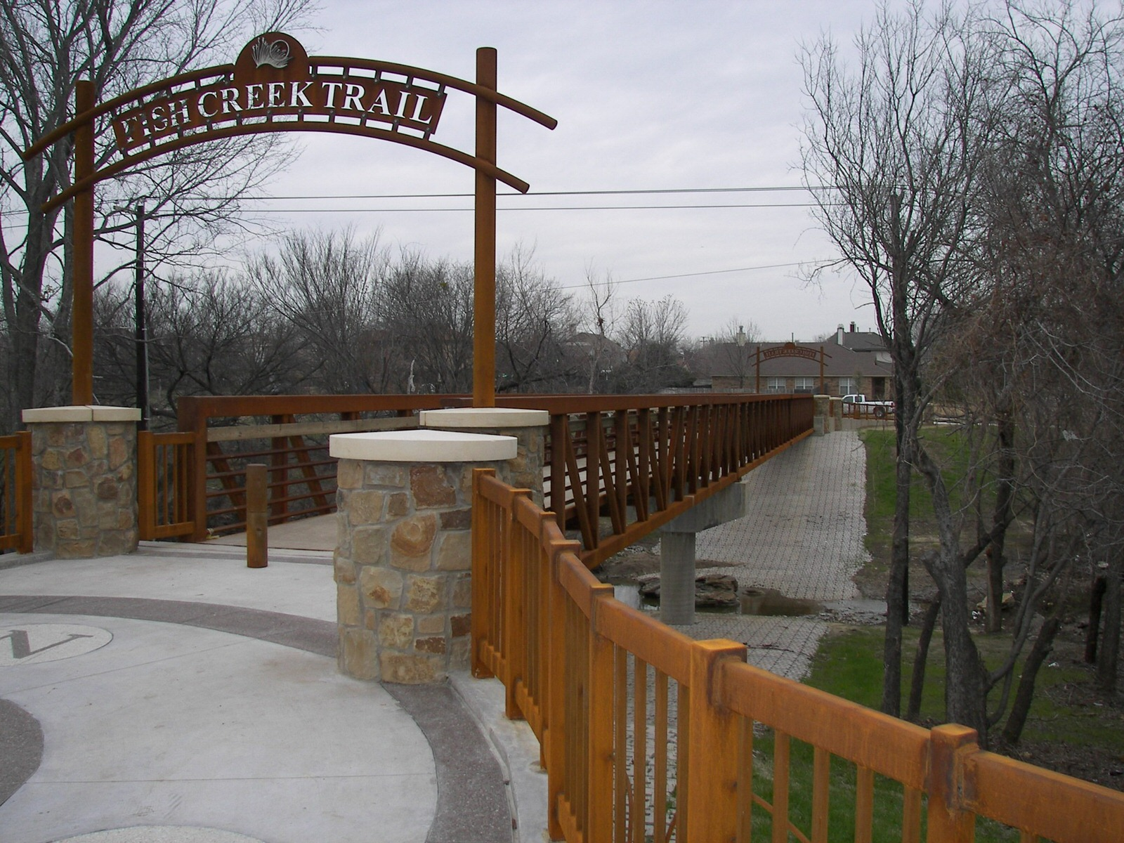 photo: The Nancy Dillard Lyon Trail is part of the Fish Creek Linear Trail. Photo by City of Grand Prairie.