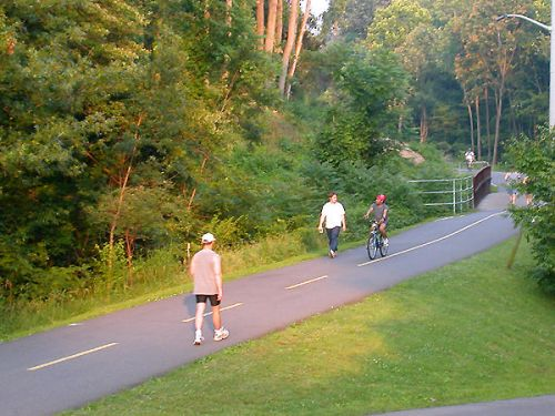 photo: Washington and Old Dominion rail trail in Arlington, Virginia (June 7, 2004)