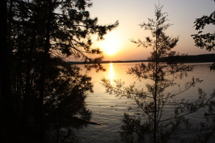 photo: Lake Ouachita Sunset at Denby Point. Photo by USACE.