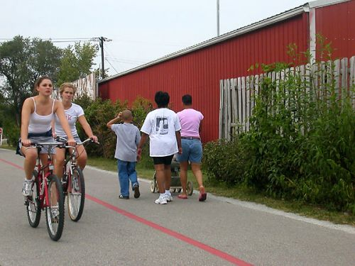 photo: The Monon Rail-Trail, one of Indiana's first State rail-trails, runs eight miles through Indianapolis.