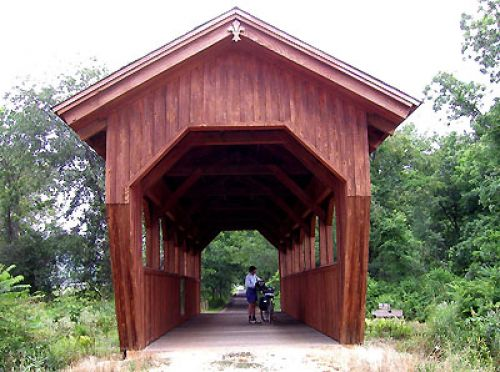 photo: Covered bridge on the Ernst Trail