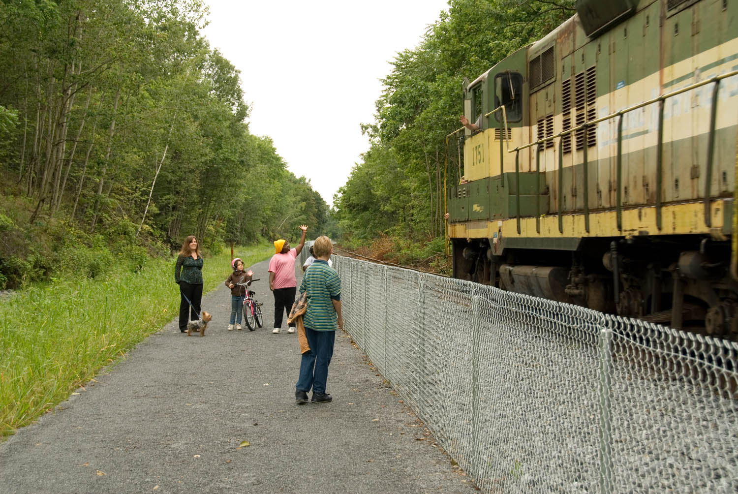 photo: The Luzerne County NRT is an active freight rail line. Photo by Mark James.