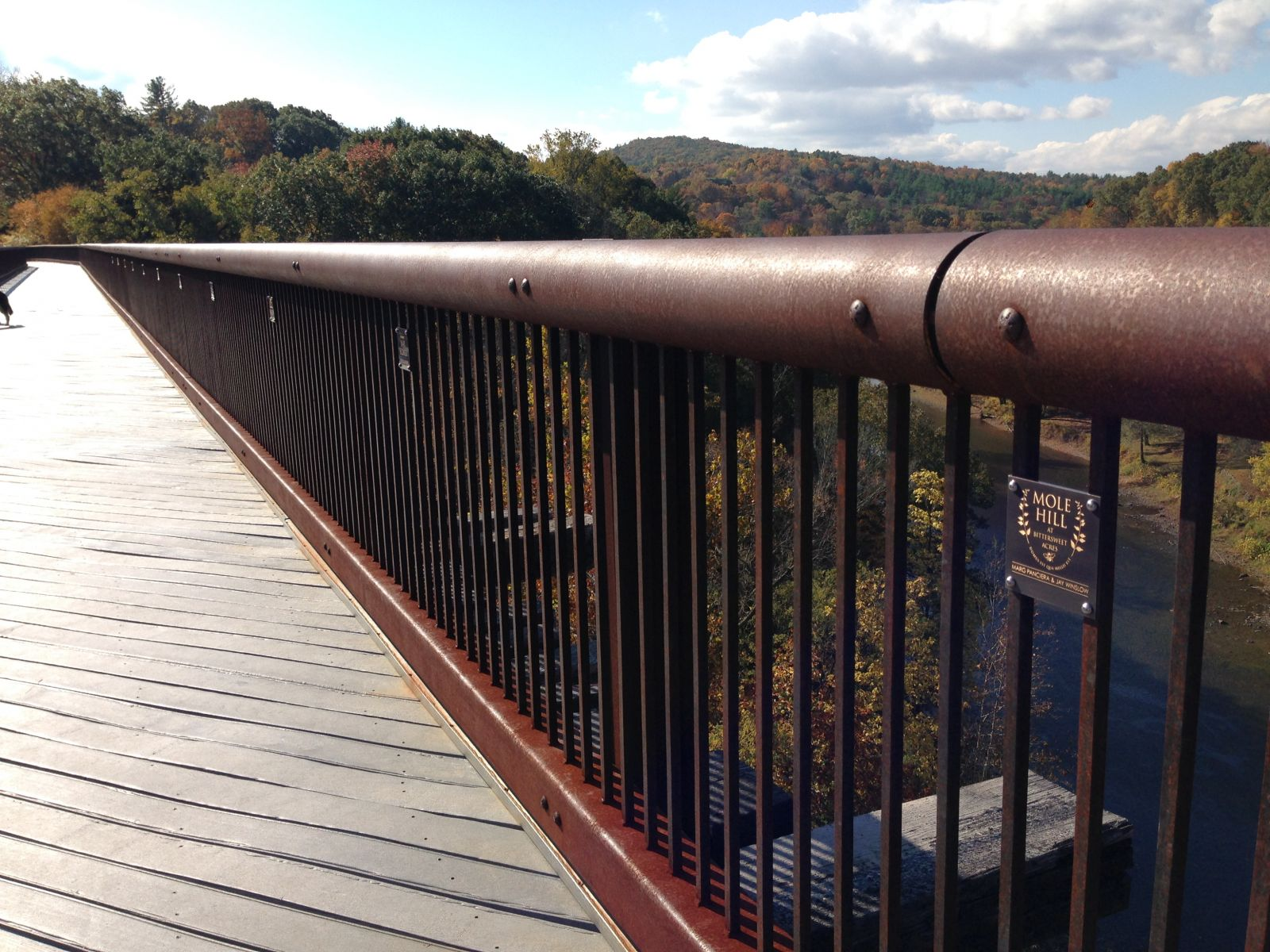 photo: The Rosendale Trestle is 150 feet high, 940 feet long, and an iconic landmark on the trail.