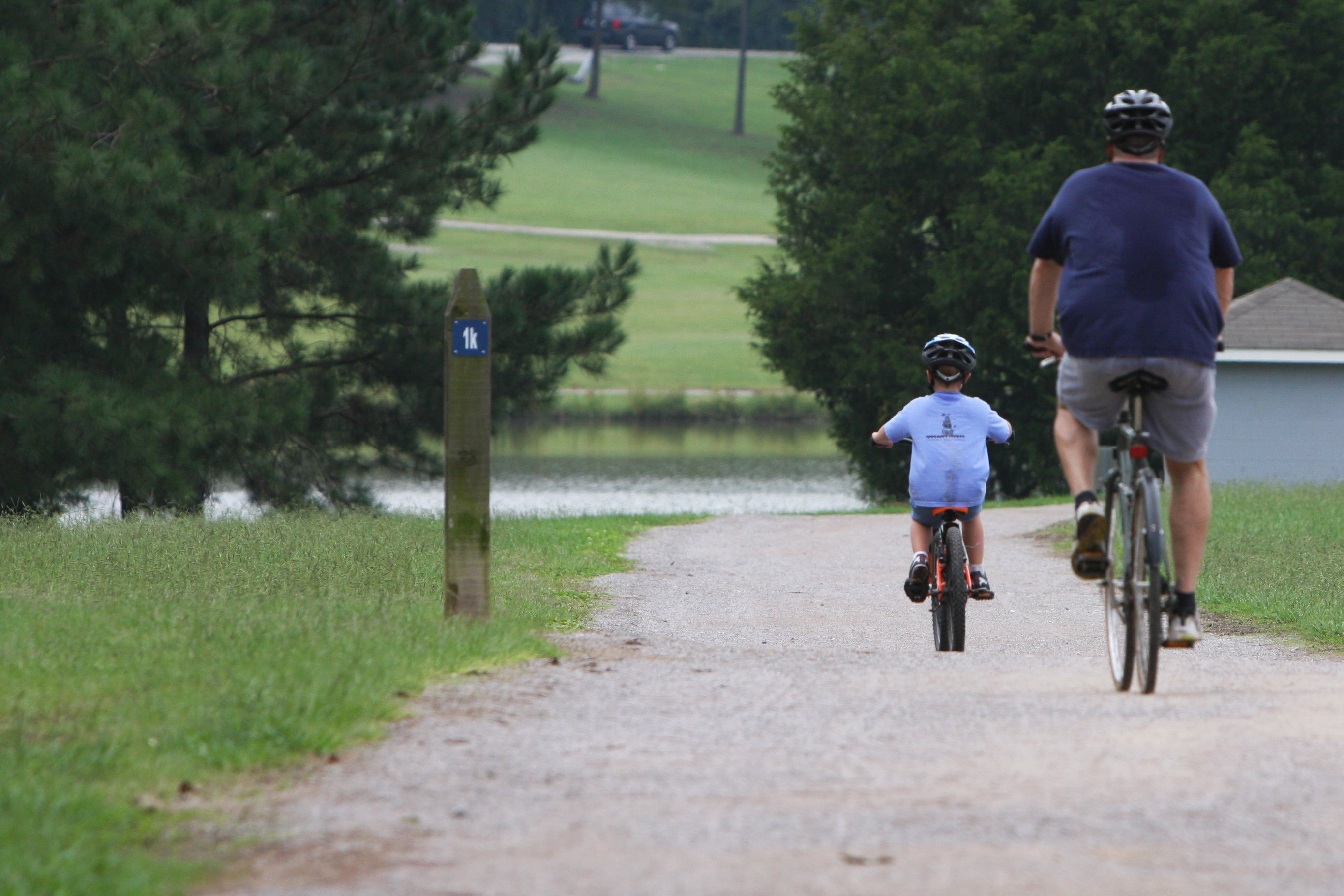 photo: Bikers on trail. Photo by Tommy Daniel.