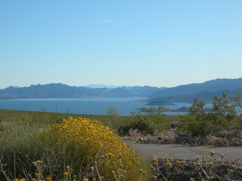 photo: View of Lake Mead in the background
